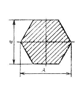 Металлопрокат шестигранник чертеж